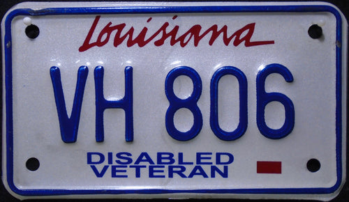 LOUISIANA DISABLED VETERAN VH 806