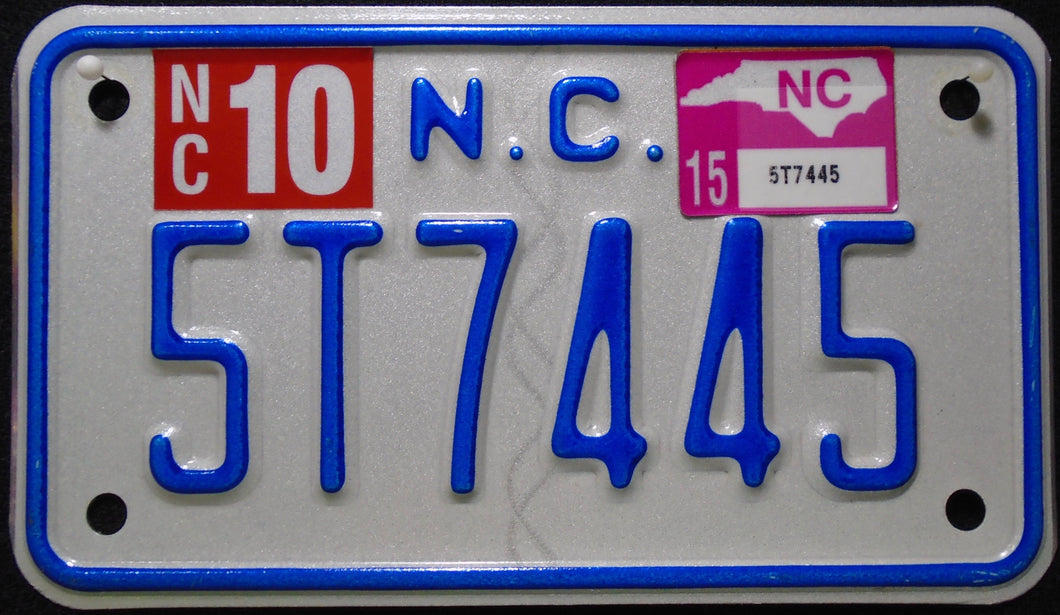 NORTH CAROLINA 2015 5T7445