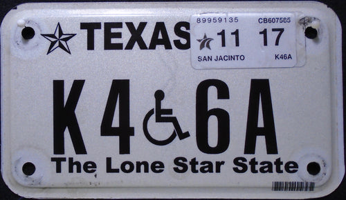 TEXAS DISABLED 2017 K46A