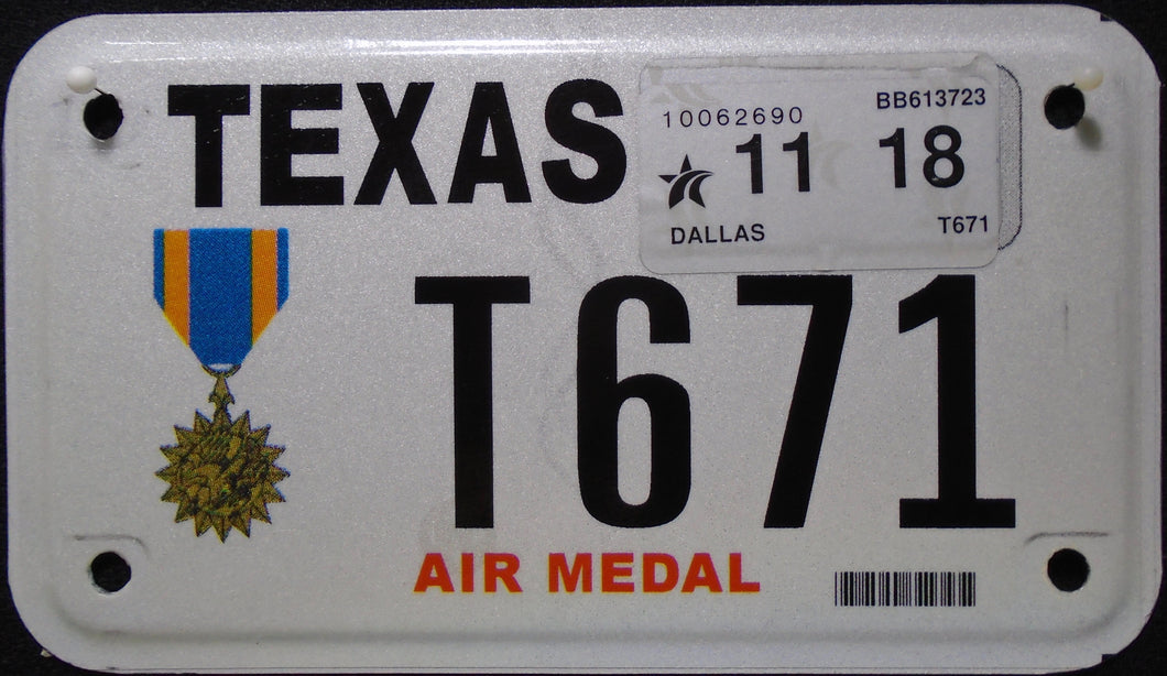 TEXAS AIR MEDAL VETERAN 2018 T671