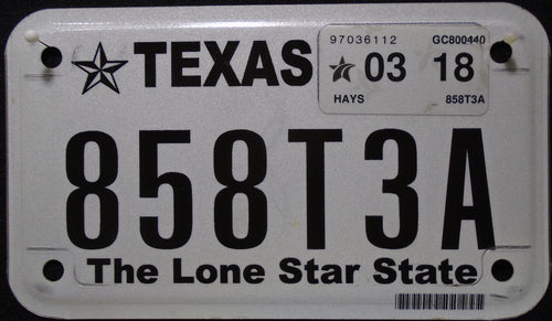 TEXAS THE LONE STAR STATE 2018 858T3A