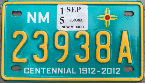 NEW MEXICO CENTENNIAL 2015 23938A