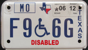 TEXAS DISABLED 2012 F96G