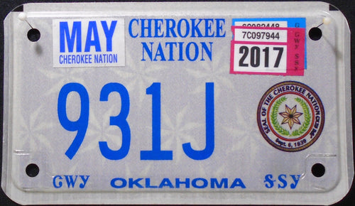 OKLAHOMA CHEROKEE INDIAN NATION 931J