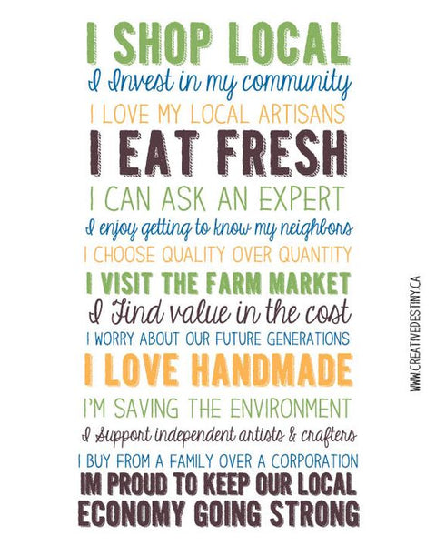 Shop Local and Invest in Your Community Your Province Your Country