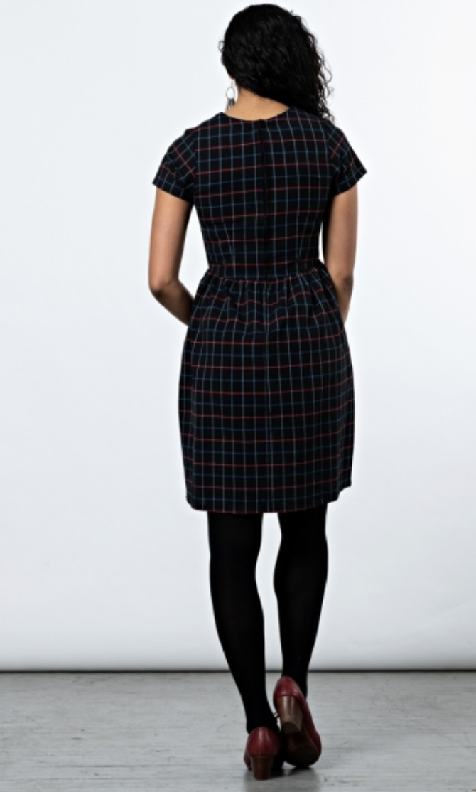 St. Vincent Dress | Black Plaid