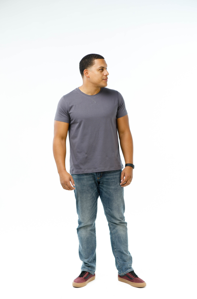 Men's Crew Neck X-Stitch Tee