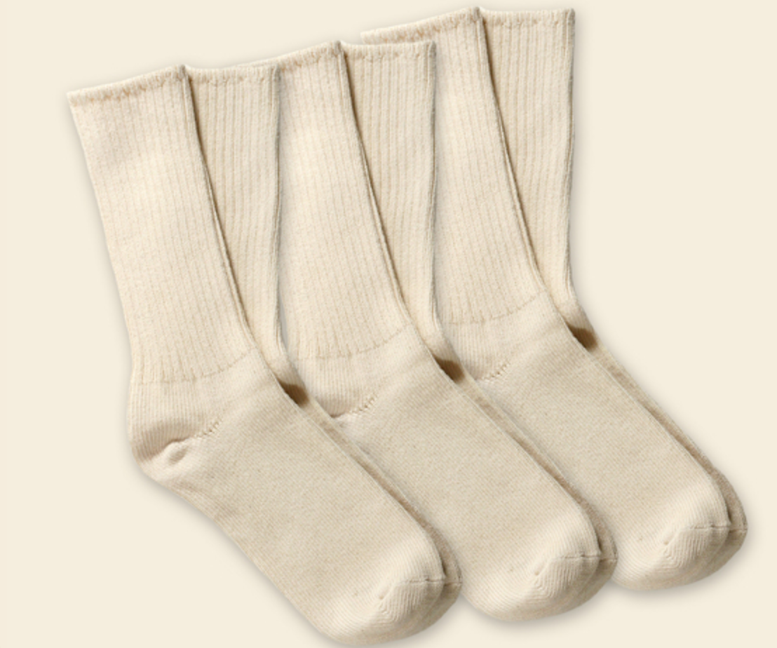 Organic Cotton Crew Socks | 4 Colors
