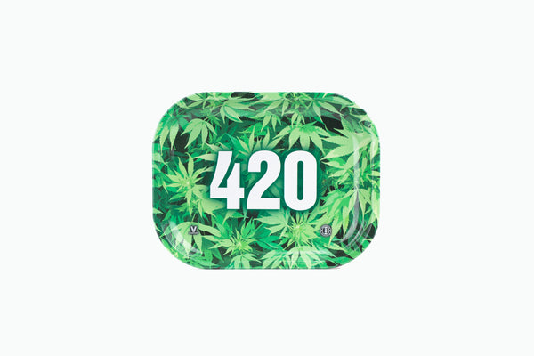 420 Green Rolling Trays 7'' X 5.5''- Small