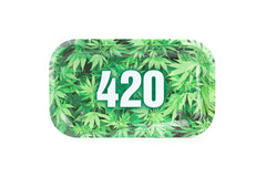 "420 Green Rolling Trays 10.5'' X 6.25""- Medium - Tokers Hub"