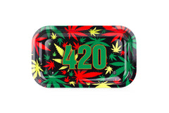 "420 Rasta Rolling Trays 10.5'' X 6.25""- Medium - Tokers Hub"