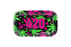 "420 Retro Rolling Trays 10.5'' X 6.25""- Medium (Wholesale Orders) - Tokers Hub"
