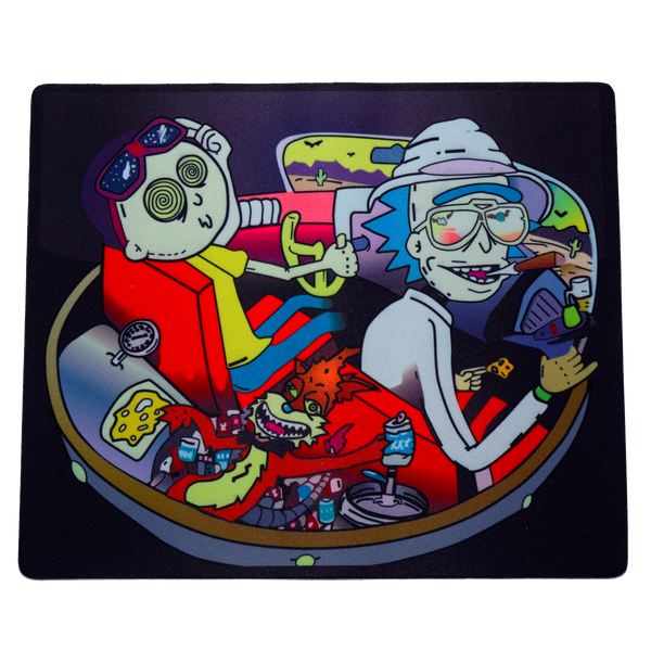 Rick & Morty on a Space Trip Dab Mat