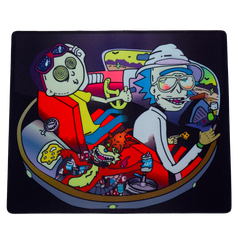 Rick & Morty on a Space Trip Dab Mat - Tokers Hub