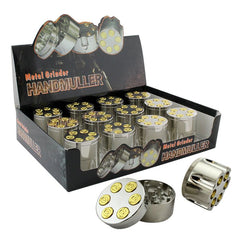 "Gold Bullet Grinder 3 part Display 1""5 inches - Tokers Hub"