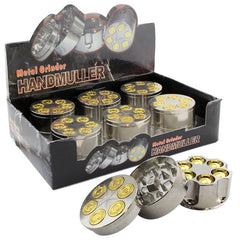 "Gold Bullet Grinder 3 part  2"" inches - Tokers Hub"