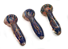 "3""5 Thick Rose Gold Fumed Spoon with Waves"