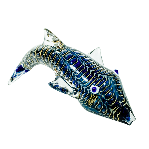 "6"" Unique Animal Glass Pipe, Shark (Wholesale)"