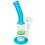 Bent Neck Thick Honeycomb Perc Waterpipe