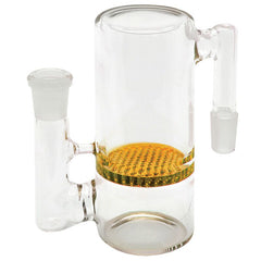 Honeycomb Straight Glass Ash Catcher - Tokers Hub
