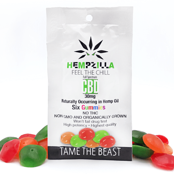 Hempzilla CBD Gummies 6 pack (30mg)