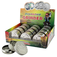 "Silver Dollar Coin Grinder 3 part 1.5"" inches - Tokers Hub"