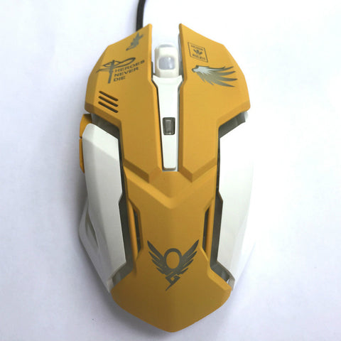 6 Button Mercy Backlit Wired USB Mouse