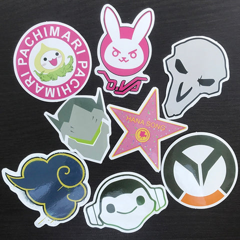 AQK 7Pcs/Lot Overwatches Stickers