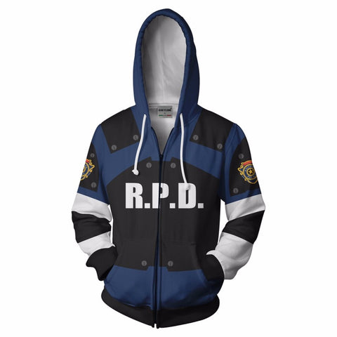 Raccoon City Police Dept. Kennedy Zip Up Hoodie
