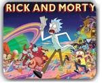 Rick and Morty Total Rickall Mouse Pad