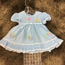Load image into Gallery viewer, Blue Vintage Dress -Girls 3-6m