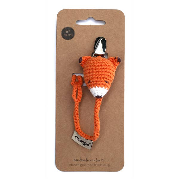 Fox Pacifier Clip - Baby Infant Gear by Cheengoo