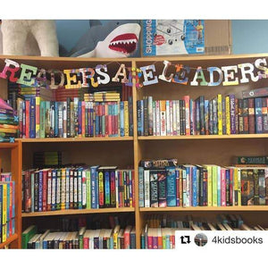 """Readers Are Leaders"" Wall Art Garland Teacher Gift Classroom Library Decoration Bunting"