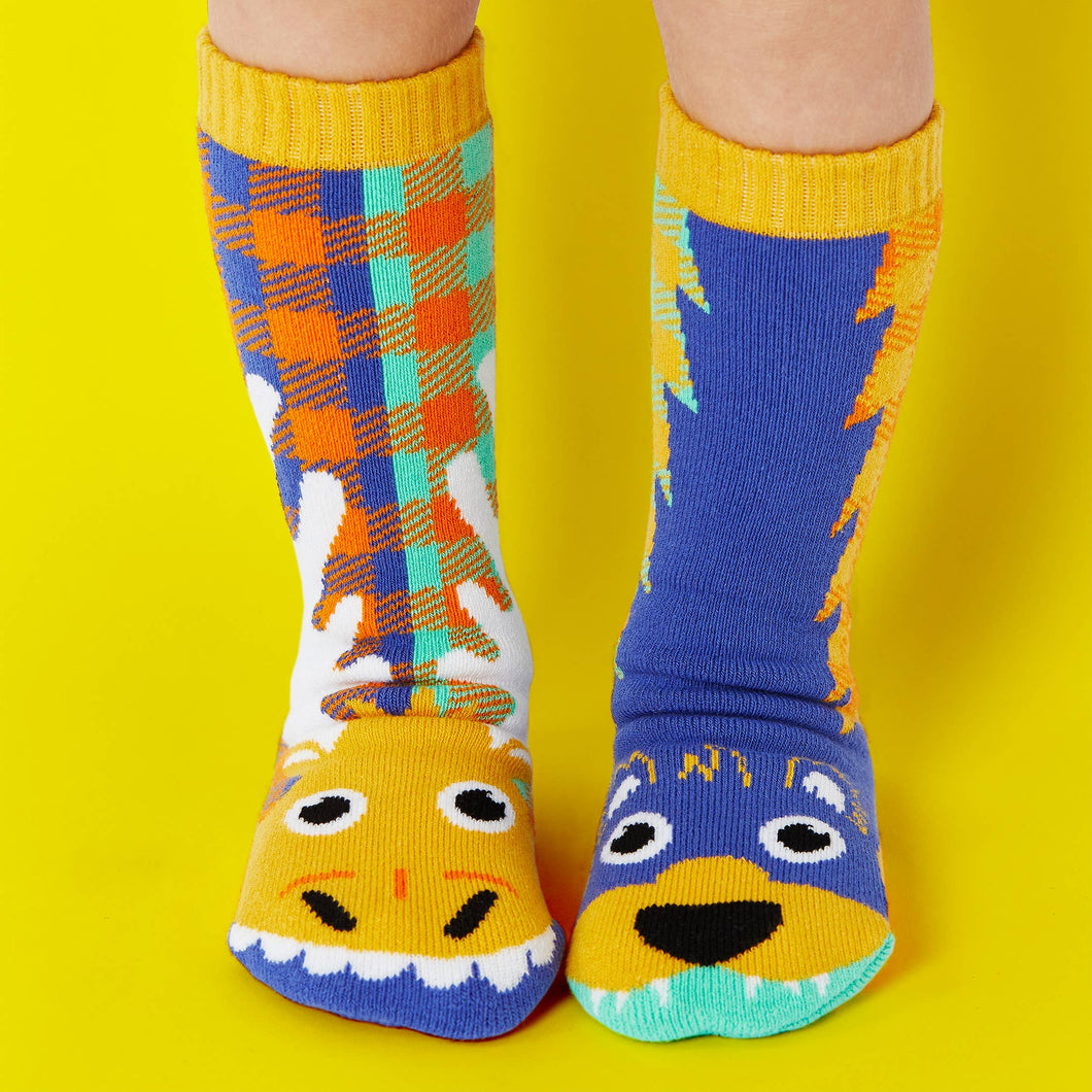 Pals Socks - Moose & Bear Kids Collectible Mismatched Forest Animal Socks