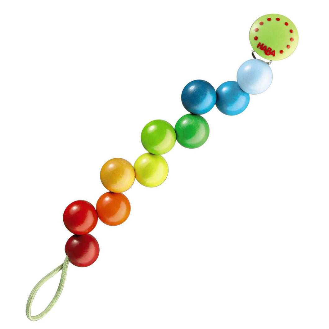 HABA - Rainbow Pearls Pacifier Chain