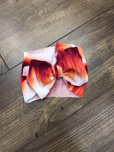 Jena Bug Baby Boutique - Messy Bow Headwrap - Sunset
