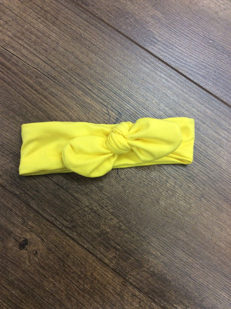 Jena Bug Baby Boutique - Yellow Knot Bow Headband