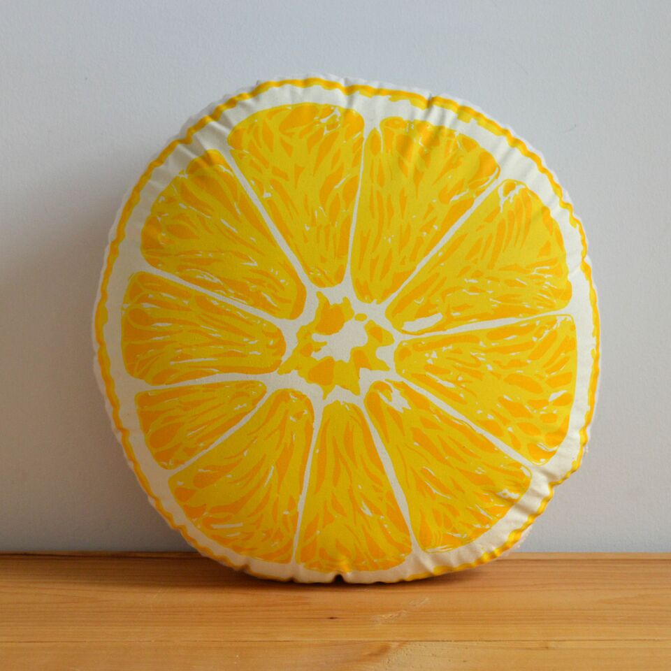 Broderpress - Lemon Pillow
