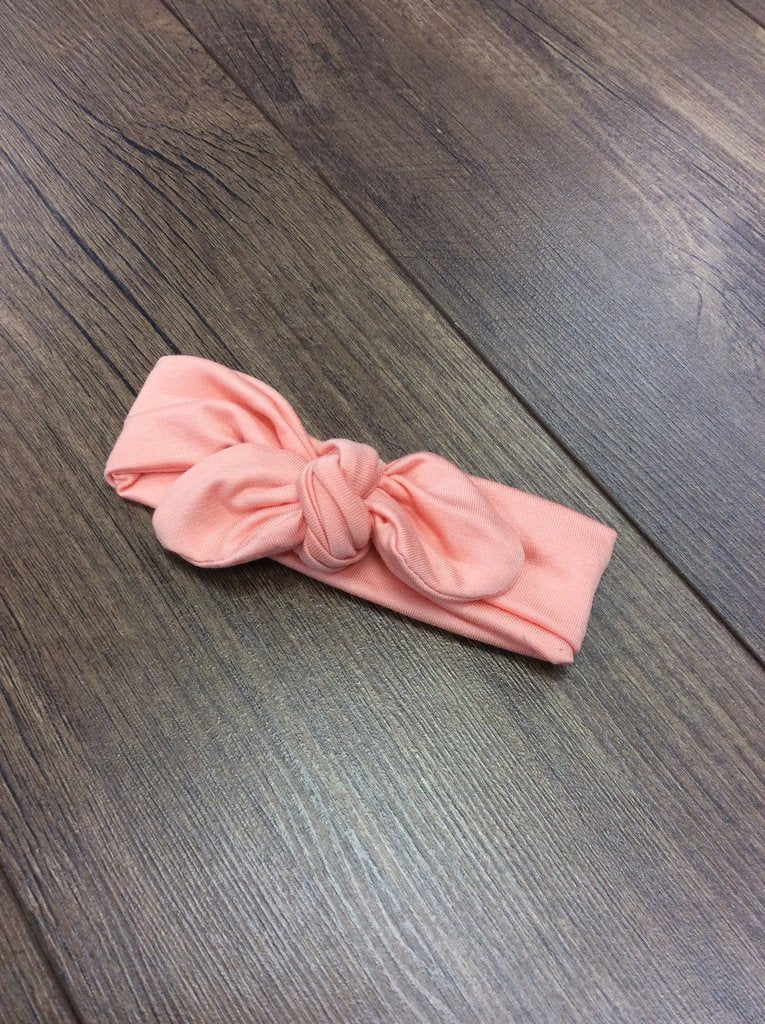 Jena Bug Baby Boutique - Peach Knot Bow Headband