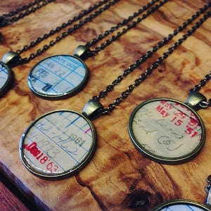 Book Lovers Necklace Vintage Look