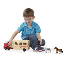 Load image into Gallery viewer, Melissa and Doug Horse Carrier Wooden Vehicle Playset