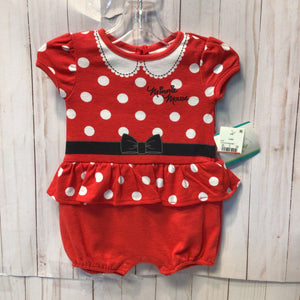 Disney Baby Minnie Mouse Short Romper, Baby Girl, 3-6 Month