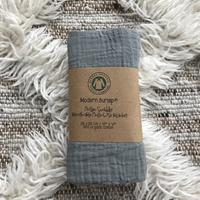 Load image into Gallery viewer, Modern Burlap - Organic Cotton Muslin Swaddle - Neutral Gray