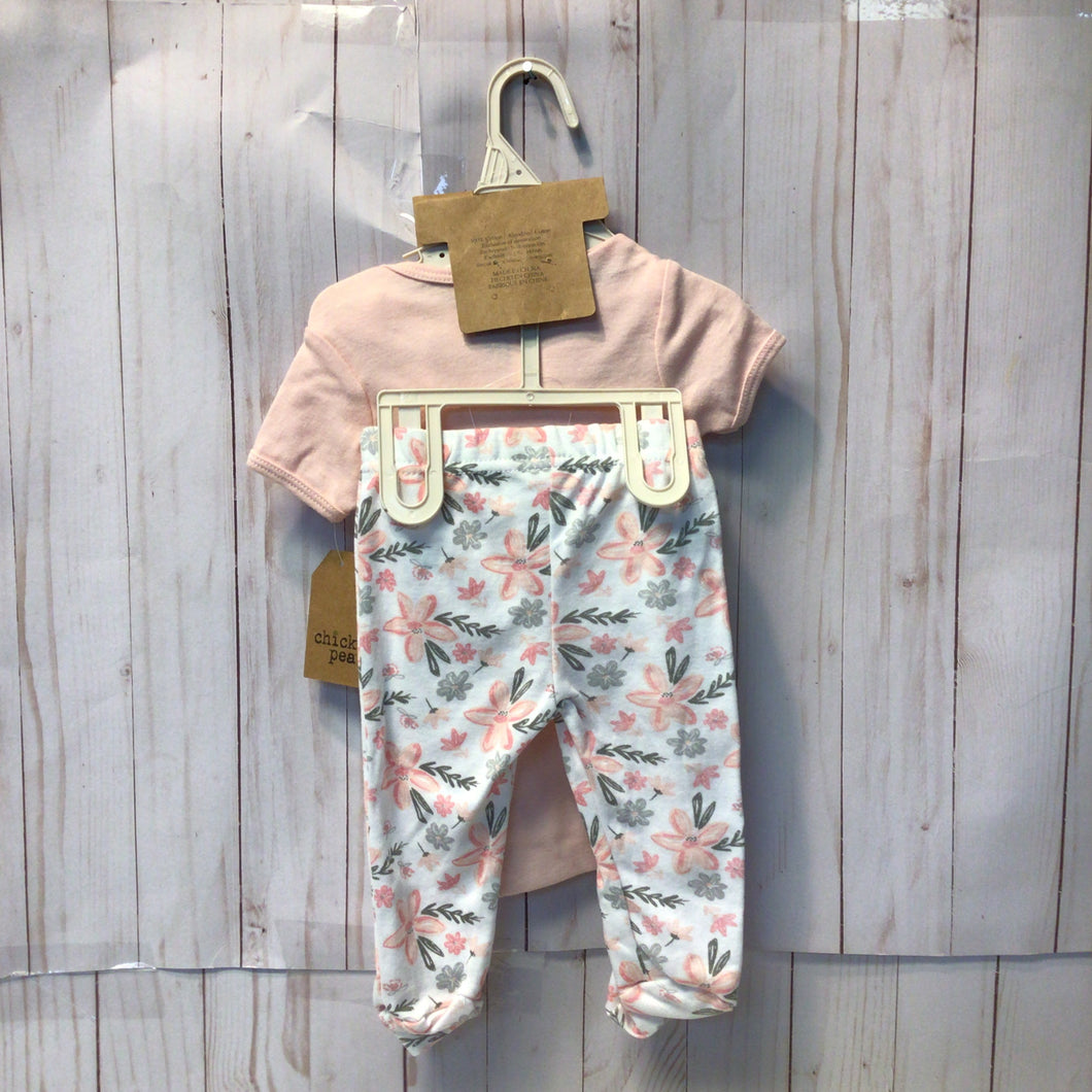 Chick Pea 3pc Set, Baby Girl, 0-3 Months