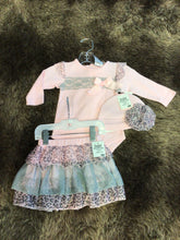 Load image into Gallery viewer, NWT Baby Essentials 3pc outfit Girls 0-3M