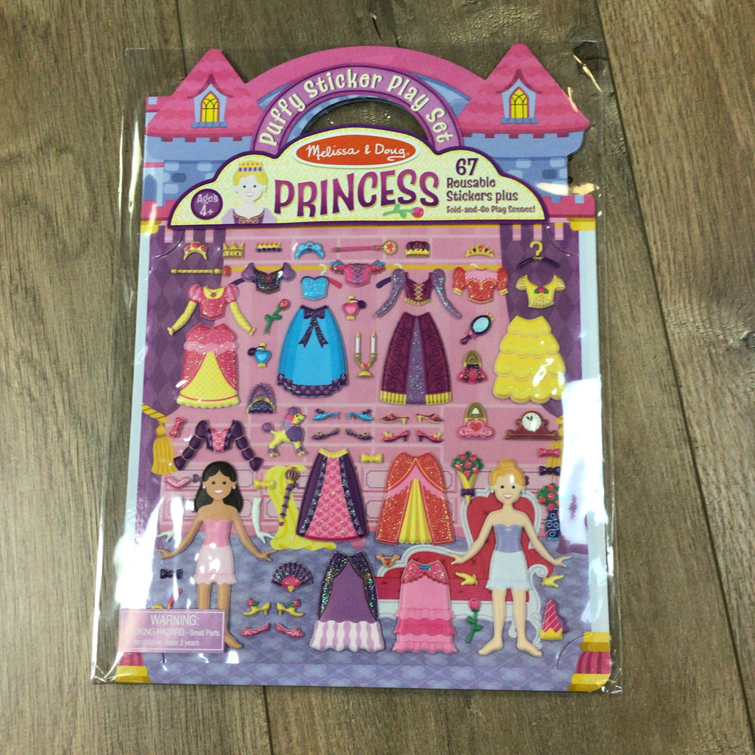 Princess Puffy Reusable Sticker Book