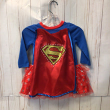 Load image into Gallery viewer, Super Girl Dress with Removable Cape, Baby Girl, 12 Months
