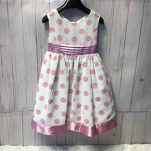 Load image into Gallery viewer, Princess Faith Polka Dot Dress with Cut out Back Size 4T