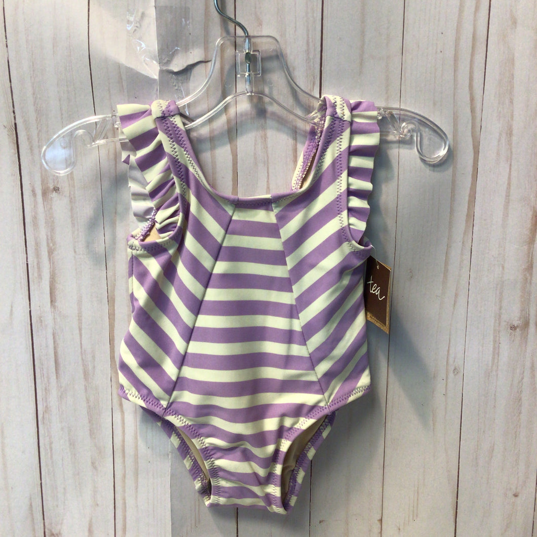 Tea Striped Bathing Suit, Baby Girl, 3-6 Months