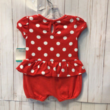Load image into Gallery viewer, Disney Baby Minnie Mouse Short Romper, Baby Girl, 3-6 Month